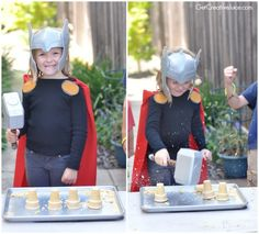 There's something so fun about a superhero-themed-birthday-party and we couldn't help but round up some of our favorite ideas to share with you! From sweet trea Avenger Party, Superhero Birthday Party, Birthday Party Games, Superhero Party Games, Spy Party, Iron Man Birthday, Boy Birthday, Thor, Party Activities