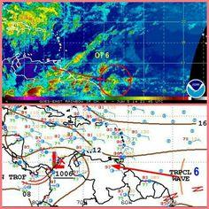 Onda Tropical 6 al Este de la Guayana Francesa. Modelos pronostican ingreso al oriente de Vzla el 8/6/2014