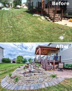 Backyard Makeover with Water Feature #Landscaping #OutdoorLiving