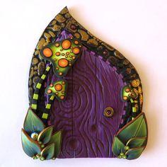 Toadstool jardin fée porte portail Pixie Miniature par Claybykim