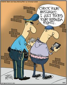 The Flying McCoys by Glenn McCoy and Gary McCoy for September 2015 The Flying McCoys Comic Strip, September 2015 on Police Memes, Police Quotes, Funny Police, Legal Humor, Cops Humor, Memes Humor, Ecards Humor, Funny Cartoons, Funny Jokes
