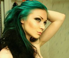 black-teal-hair