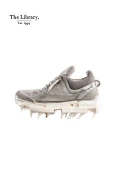 @ #TheLibrary1994 #CarolChristianPoell #CCP ~ Carol Christian Poell  #Iced #Paper #Dart #Handled #Low #Top #trainers in #Grey #unique #artisanal #wearable-art @ The Library 1994 #Kensington #London #BeyondTheOrdinary Kensington London, Wearable Art, Trainers, Artisan, Christian, Grey, Paper, Unique, Top