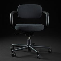 A single loop simultaneously performs the function of the arm and backrests on Konstantin Grcic's Allstar for Vitra, used to furnish the Dezeen offices. Cool Chairs, Side Chairs, Dining Chairs, Office Furniture Design, Chair Design, Dezeen, Take A Seat, East London, Modern Chairs