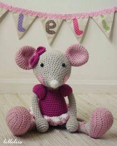 PATTERN - Ballerina-Mouse (crochet, amigurumi)