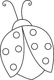 blank ladybug template