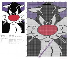 Just Cross Stitch, Cross Stitch Charts, Counted Cross Stitch Patterns, Cross Stitch Embroidery, Crochet C2c Pattern, Tapestry Crochet Patterns, Blackwork, Melty Bead Patterns, Looney Tunes Characters