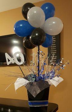 40th Surprise Party DIY Centerpieces