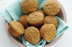 These carrot cake muffins are so delicious, it's hard to believe they're also healthy! A few simple ingredient swaps made these low sugar muffins packed with healthy produce and nutrients from carrots, apples and greek yogurt. Try these carrot cake muffins for breakfast or a healthy treat.