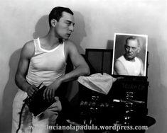 Buster Keaton Attori in canottiera dalla old hollywood al link: lucianolapadula.w... #20s #30s #40s #50s #abiti #actor #attore #attori #beauty #blog #blogger #canottiera #cinema #costumi #fashion #fashionhistory #film #gay #hollywwod #intimo #libro #lucianolapadula #machoman #moda #naked #oldhollywood #outfit #sex #sexsymbol #sexy #silentmovie #slip #storiadelcinema #storiadellamoda #undershirt #underwear #photography