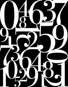 Get those plain walls decorated with these free Number Typography Printables. Use them individually or place them together in a wall collage.