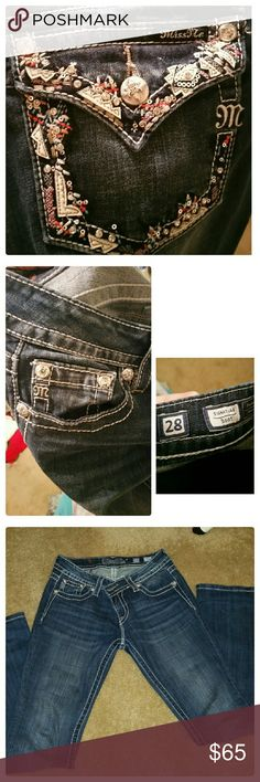 Miss me jeans All info in images, inseam as well. Perfect condition nothing loose or missing wore 3 times max and dry cleaned. No wear or tear anywhere. Miss Me Pants