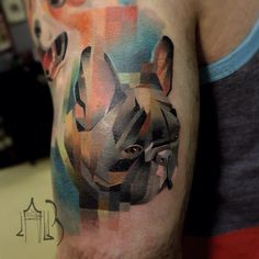 Animal Tattoos With Digital Pixel Glitches By Russian Artist