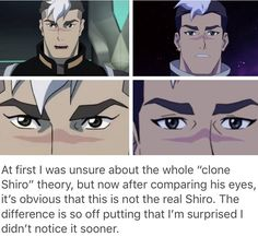 "OK WHEN ""SHIRO"" ESCAPED IN SEASON 3 I GENUINELY THOUGHT IT WAS A NEW CHARACTER (well yeah he's a clone so he is but like that the writers just made a new random character) UNTIL KEITH CALLED HIM SHIRO"