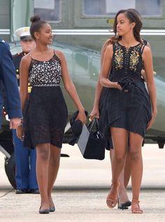Our 'First Daughters' - Sasha and Malia Obama.