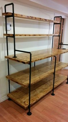 Straightforward Wood Furniture Projects Guide: Selecting No-Hassle Plans In DIY Wood Working - Gleason's DIY Tips Building Furniture, Pipe Furniture, Furniture Projects, Furniture Plans, Furniture Design, Automotive Furniture, Automotive Decor, Furniture Stores, Pipe Bookshelf