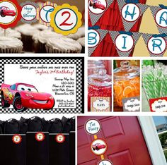 Complete Boy Disney Cars Birthday Party Line  by StickToYourStory, $85.00
