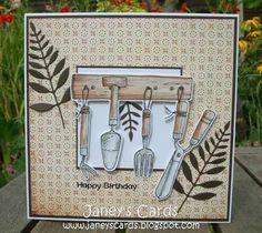 Just Inklined - Garden Tools  Memory Box Gentle Leaf die