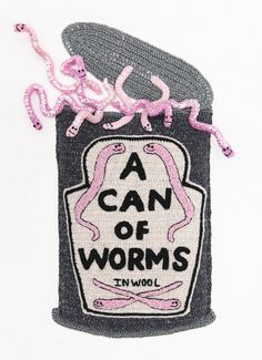 Can of Worms crocheted lambs wool, 2011View full details