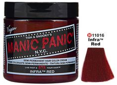 Marsala Beauty Products. Tish & Snooky's Manic Panic Semi-Permanent Hair Color Cream - Infra Red
