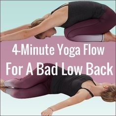 Chloe Freytag demonstrating two yoga poses from the workout 4 Minute Yoga Flow For A Bad Low Back