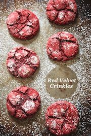 Red Velvet Crinkle Cookies @The Novice Chef Blog {Jessica}