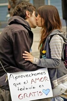 """Be grateful love is still """"Free"""" All You Need Is Love, My Love, Kiss And Romance, Protest Posters, Madly In Love, Spanish Quotes, Dream Big, Love Quotes, 1"""