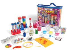 Big Bag of Science and over 7,500 other quality toys at Fat Brain Toys. Go crazy with science. Over 70 experiments expand your brain and ensures the excitement never ends. Make water disappear. Grow snow. How does sunscreen work? Why do we burp? Roll up your sleeves...