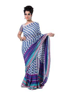 Ranas Woman Pure Georgette Printed Multi Color Saree