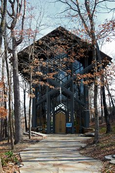 Thorncrown Chapel. Eureka Springs, Arkansas.