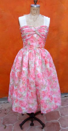 Vintage Victor Costa 80s does 50's Coral Pink by SweetPickinsShop, $150.00