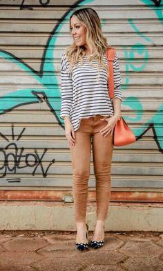 LOOK DO DIA: CRASH DE ESTAMPAS - The Blend   Moda It  Camisa Listras + Skinny…