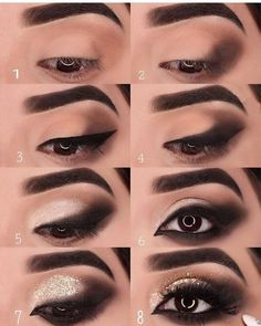 Schnelle Tipps auch # Beauty-Hacks # - make up - Makeup Room Decor Eye Makeup Steps, Smokey Eye Makeup, Eyeshadow Makeup, Makeup Brushes, Makeup Remover, Eyeshadow Brushes, Eyeshadow Palette, Gold Smokey Eye, Black Smokey