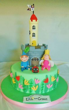 Ben and Holly's Little Kingdom Birthday cake - Cake by Funkycakes Ben And Holly Party Ideas, Ben And Holly Cake, Ben E Holly, 1st Birthday Cake For Girls, 4th Birthday, Birthday Ideas, Disney Cakes, Just Cakes, Cata