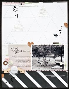 *love letter* by JanineLanger at @studio_calico #studiocalico #scrapbooking