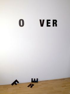 """visual-poetry:    """"nothing lasts forever"""" by anatol knotek  have a look at more of my text-objects and installation art here:http://www.anatol.cc/objects_en.html"""