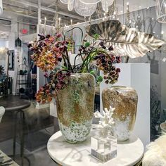 Excited to have had the pleasure designing for @cyandesignhome showroom at @highpointmarket! We loved getting super creative with their artful entrance! Head to our Insta Story for more fun arrangements we created. #amylynneoriginals #ourfocusisflowers #hpmkt #hpmkt2017 #cyandesign