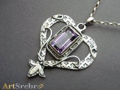 Ametyst srebro- 169,zł