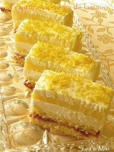 Dessert Cake Recipes, Sweets Cake, No Cook Desserts, Pie Dessert, Sweets Recipes, Baby Food Recipes, Cookie Recipes, Delicious Desserts, Romanian Desserts