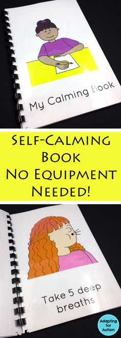 This self-calming book helps kids learn techniques and strategies that don't require any equipment or supplies. We don't always have sensory bottles or a quiet corner available so give your anxious students this coping toolbox!