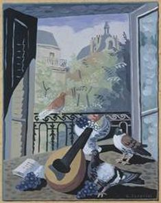 Window with Doves, 1931, Gino Severini