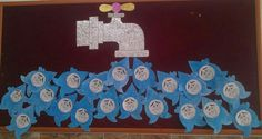 30 World Water Day Crafts Social Projects, Projects For Kids, Art Projects, Crafts For Kids, World Water Day, Class Decoration, Montessori Activities, Save Water, Environmental Art