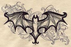 Embroidery Designs at Urban Threads - Elegant Bat Et Tattoo, Tattoo Hals, Sternum Tattoo, Body Art Tattoos, Tribal Tattoos, Arabic Tattoos, Sleeve Tattoos, Polynesian Tattoos, Tattoo Schwarz