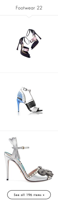 """""""Footwear 22"""" by katiemarilexa ❤ liked on Polyvore featuring shoes, sandals, heels, scarpe, dior, heeled sandals, white, ankle tie sandals, white leather sandals and striped shoes"""