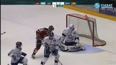 Funny Hockey GIFs -- Be Careful Who You Kiss After You Score that Goal!