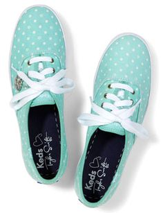 Keds Taylor Swift's Champion Paw Dot in Teal. http://www.retailmenot.com/blog/sneakers-for-kids.html