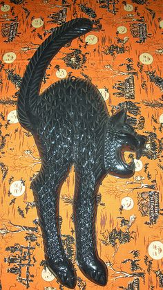 Vintage Plastic Black Cat
