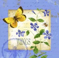 Butterfly Meadow III by  Jane Maday