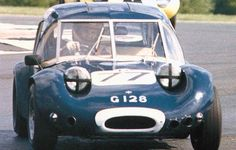 Marcos GT: the product of the fertile minds of Jem Marsh and Frank Costin (brother of Mike Costin - the Cos inCosworth). Frank described it as a 'dry Lotus 7. A fairly unique construction involving a wooden monocoque. Achieved much success on the circuits in the hands of Bill Moss and a Scottish youngster, Jackie Stewart.