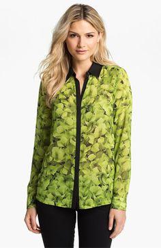 MICHAEL Michael Kors Sheer Floral Print Blouse | Nordstrom